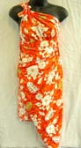 Ladies clothing boutique manufactures handcrafted fish bone and flower decorated bali sarong dress