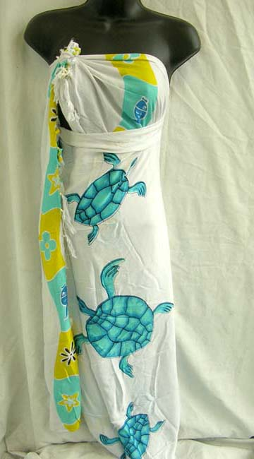 Distributor wholesales sea turtle ladies bali sarong from bali bali catalog