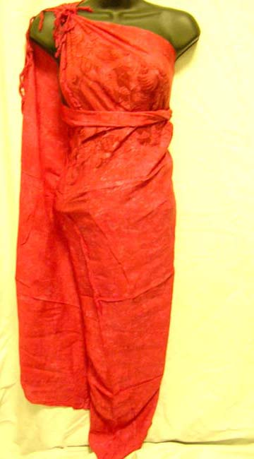 Bali bali export agent supply High style indonesian sarong wrap dress in red online