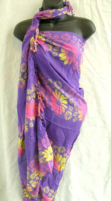Import outlet manufactures trendy spring floral print pattern on Batik scarf wrap