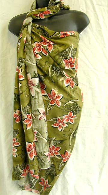 Wholesaler supplies ladies Indonesian flower print exotic beach cover up shawl