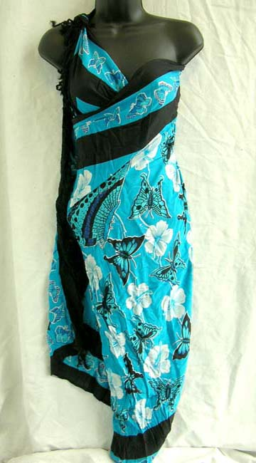 Online wholesaler imports stylish butterfly and flower patterned sarong from Bali Indonesia