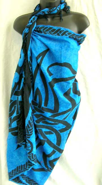 Island apparel boutique manufactures Celtic triangle knot print patterned balinese fashion sarong