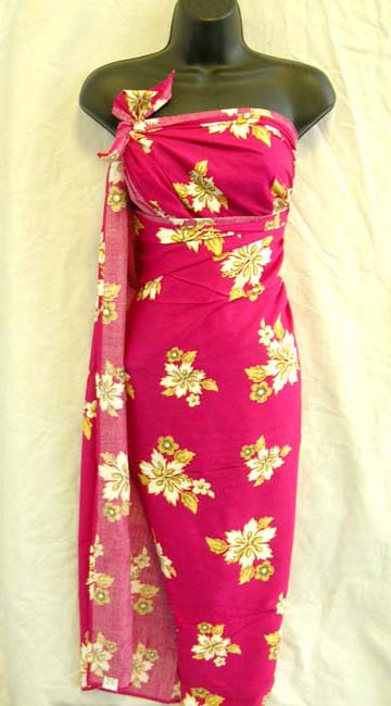 Ladies resort wear shopping, spring fashion sarong dress with floral pattern decor from Indonesia exporter