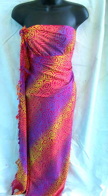 Sexy wholesale supplies, Caribbean style, rayon scarf wrap from online distributor