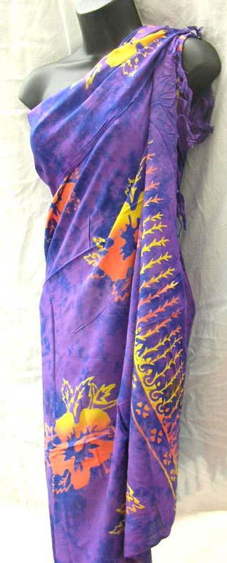 Handmade wrap dress supply outlet store manufactures flower design summer sarong