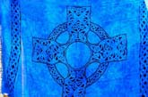 Deep Blue ritural wicca medieval skirt alternation sarong